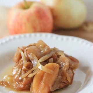 Crock Pot Pork and Apples.