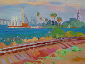 Photo: Rogers Point, oil on board by Nancy Roberts, copyright 2014. Private collection.