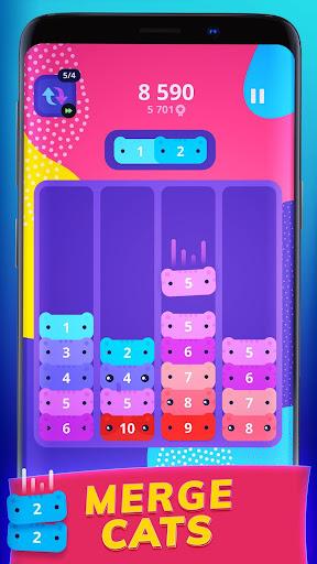 CATRIS - Merge Cat | Kitty Merging Game apkpoly screenshots 1