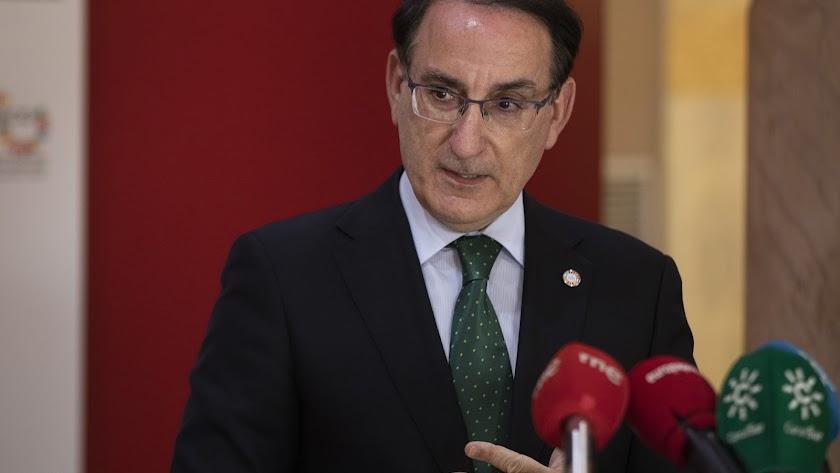 Javier González de Lara, presidente de la Confederación de Empresarios de Andalucía.