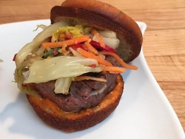 Short-rib, Kim-chi Sliders On Gyeran-bbang Buns Recipe