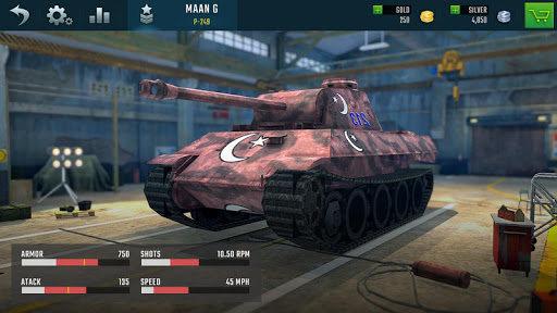 Battleship of Tanks - Tank War Game  screenshots 8