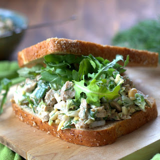 Seitan + Chickpea Salad with Dill and Almonds Recipe