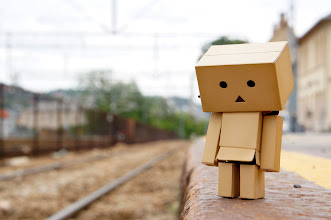 Photo: Danbo just missed the train in Halden