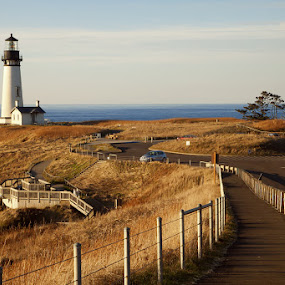 Yaquina Head by Jun  Gomez - Landscapes Travel ( lighthouse )