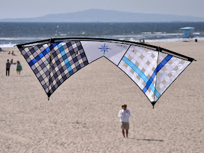 Photo: Thursday afternoon. Strong winds brought out vented kites. Here is a Shook mesh Rev Masterpiece series.