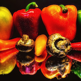 Pepper Paradise by Dave Walters - Food & Drink Fruits & Vegetables ( peppers, still life, lumix fz2500, colors, food )