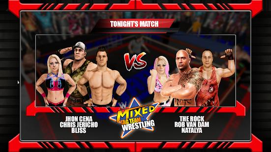 Mixed Tag Team Match:Superstar Men Women Wrestling - náhled