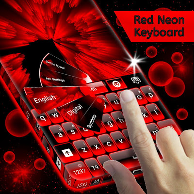 Red Neon Keyboard - screenshot