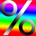 % Quick percentage value FREE icon