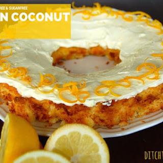 Low Carb Lemon Coconut Cake.