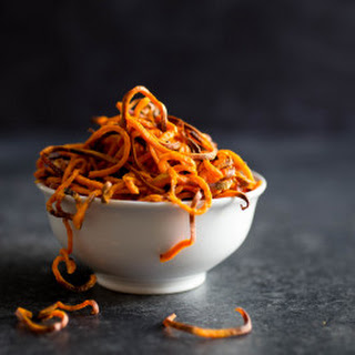 Spiralized Sweet Potato Fries (perfectly crispy!)