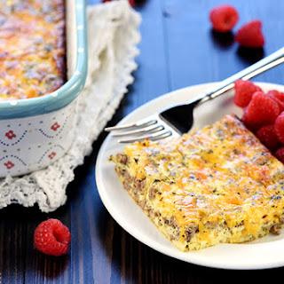 Ground Beef, Egg, & Cheese Breakfast Casserole.