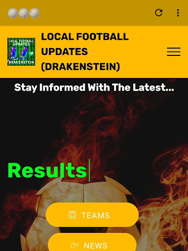 LOCAL FOOTBALL UPDATES (Drakenstein) screenshot 1