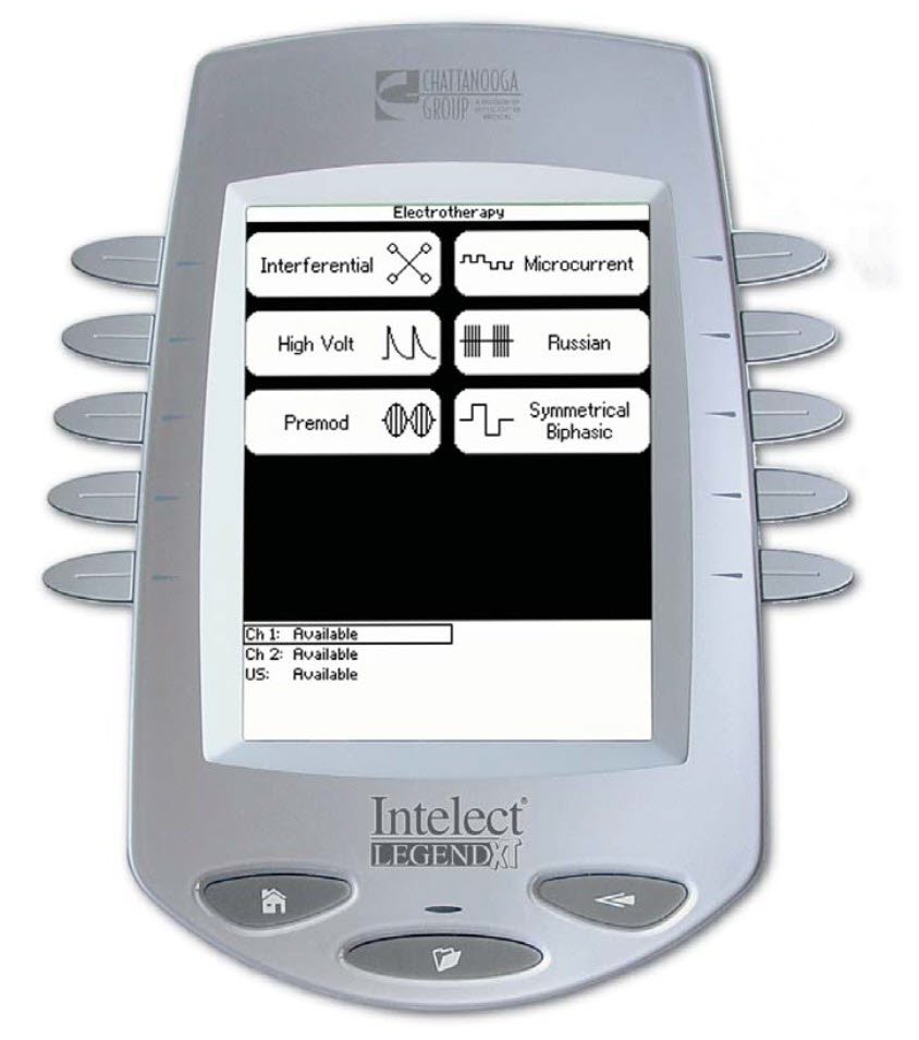 Easy to use touch screen interface helps users navigate e-stim protocols and create their own user defined protocols