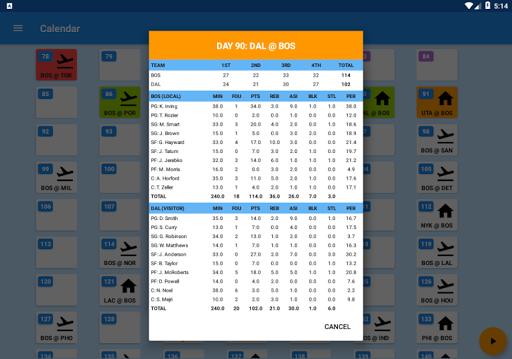 Basket Manager 2018 Free 3.4 screenshots 12