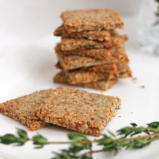 Parsnip and Thyme Grain-Free Crackers [Vegan]