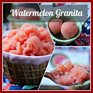 Watermelon Granita….or Soft Serve Sorbet.