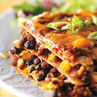 Beef and Black Bean Enchilada Bake.