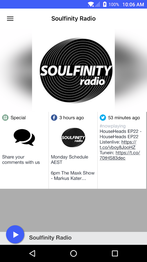 Soulfinity Radio- screenshot
