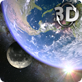 Earth & Moon in HD Gyro 3D Parallax Live Wallpaper download
