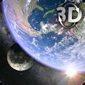 Earth & Moon in HD Gyro 3D icon