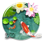 Fancy 3D koi fish theme Icon