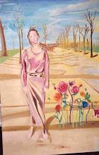 Photo: Les boréades ou alphise et borée (120*80 cm) huile sur toile 2002                    Photo Argentique