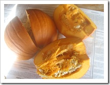 Cut pumpkin 1
