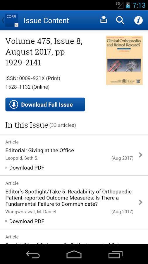 Clinical Orthopaedics and Related Research®- screenshot