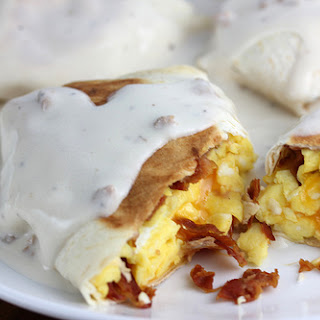 Smothered Breakfast Wraps.