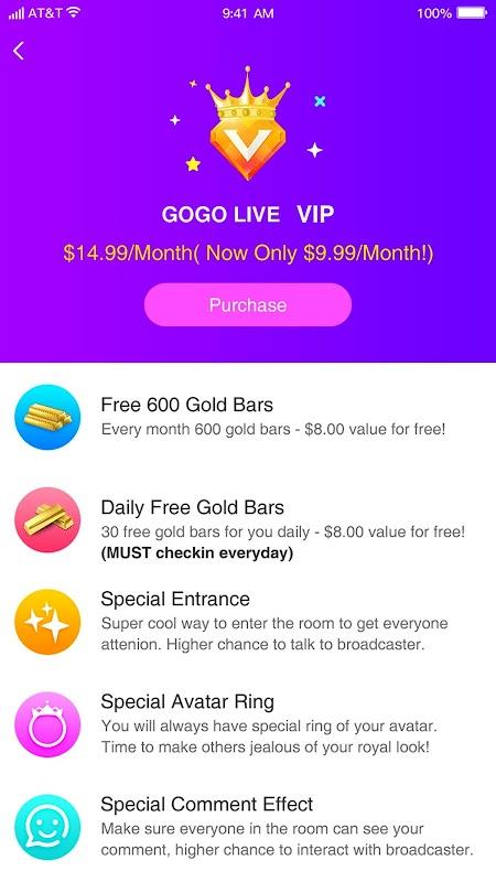 GOGO LIVE screenshots