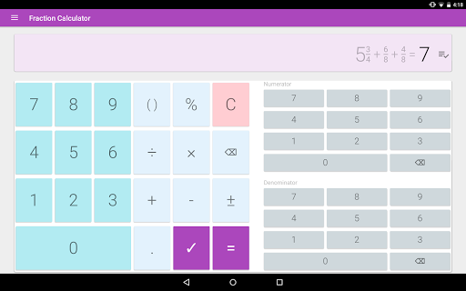 Fraction calculator: easy solve fractions problems 1.27 screenshots 7