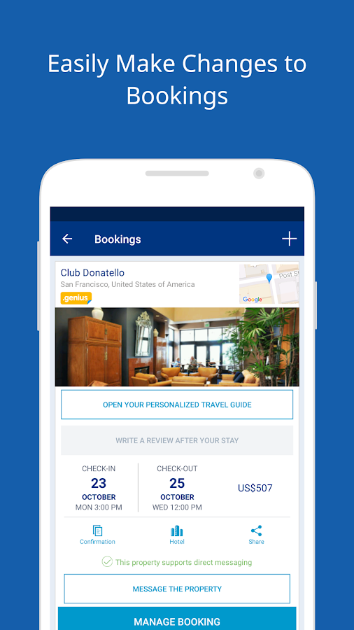 Booking.com Hotels & Vacation Rentals (ekrano kopija)