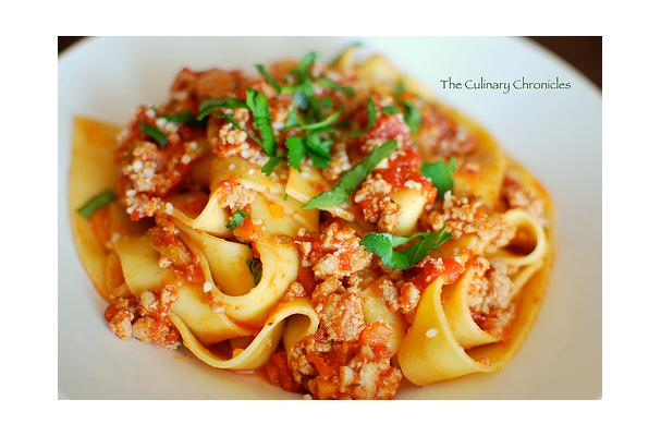 Turkey Bolognese Ragu With Pappardelle