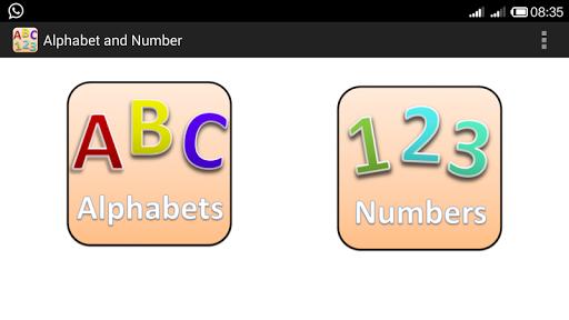 Alphabet Number for Nursery
