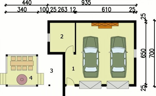 G54 - Rzut garażu