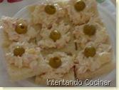 carne de cangrejo con pina y oliva