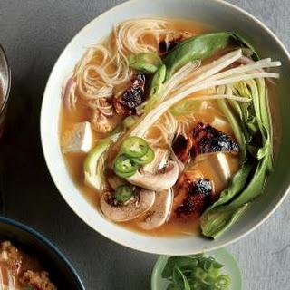 Chicken-Bok Choy Noodle Bowls.