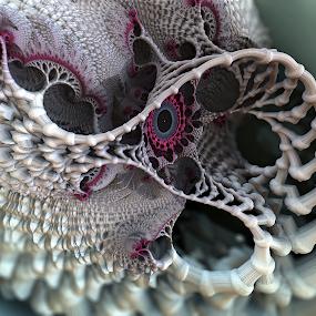 The Mesh of Love by Glenda Popielarski - Illustration Abstract & Patterns ( love, mandelbulb 3d, abstract art, fractal art, mb3d, raw fractals, m3d, fractals, digital art )