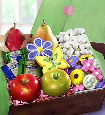 Photo: Fruit and Treats Spring Gift Basket