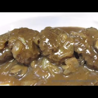 Hamburger Steaks with Mushroom & Onion Gravy - How To Make Hamburger Steaks.