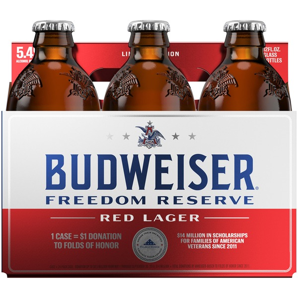Logo of Anheuser-Busch Budweiser Freedom Reserve Red Lager
