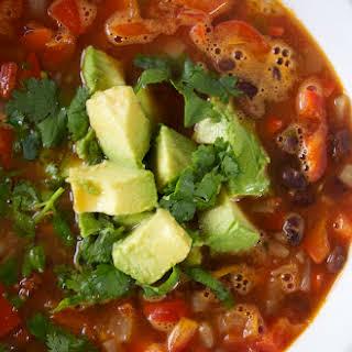 Black Bean Taco Soup.