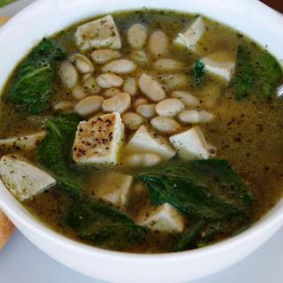 5 Ingredient Pesto Chicken Soup