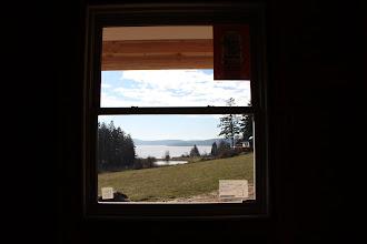 Photo: Kitchen view, framed.