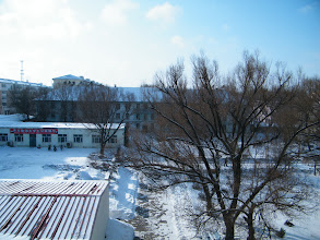 Photo: sunny morning after a late spring snow. here the QRRS Dorms where benzrad preparing his Royal China of new China Empire lasts 1109 years in future.