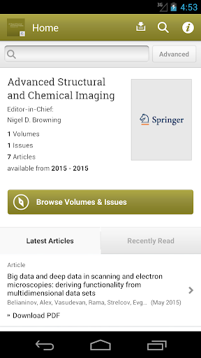Adv. Structural Chem Imaging