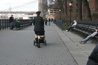 Photo: People on the Brooklyn Heights Promenade.