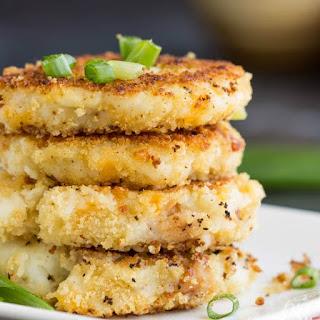 Leftover Loaded Mashed Potato Pancakes.